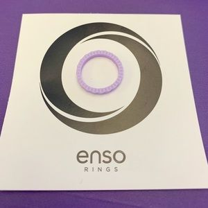 Enso Slanted Brick Stackable Silicone Ring Size 6